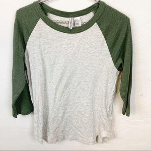 Divided l H&M Green Sleeve Baseball T-shirt